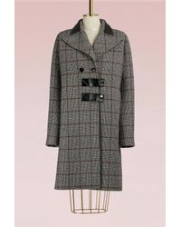 Carven - Gray Virgin Wool Coat - Lyst