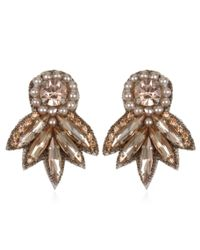 Suzanna Dai | Pink Montmartre Button Earrings, Blush | Lyst