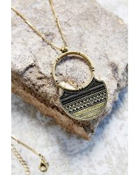 Urban Outfitters - Metallic Behind The Light Pendant Necklace - Lyst