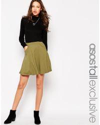 ASOS   Black Skater Skirt With Pockets   Lyst