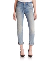 J Brand - Blue Arley High-rise Boy-fit Jeans - Lyst