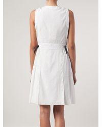 Rag & Bone - White Micro Dots Printed Dress - Lyst