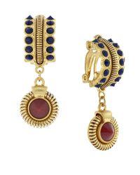 Vince Camuto | Metallic Belle Of The Bazaar Stone Drop Clip Earrings | Lyst
