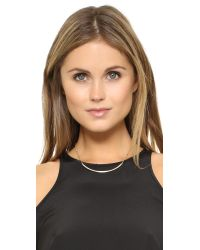Rebecca Minkoff - Metallic Beaded Bar Necklace - Lyst