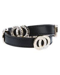 BVLGARI | Black Circular Panel Bracelet | Lyst