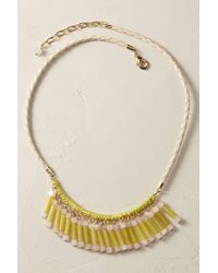 Anthropologie | Yellow Jade Fringe Necklace | Lyst