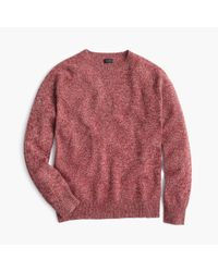 J.Crew | Red Marled Lambswool Sweater for Men | Lyst