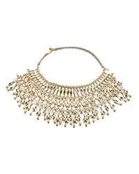 Aurelie Bidermann - Metallic Bib Necklace - Lyst