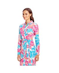 Diane von Furstenberg | Blue Prita Silk Shirt Dress | Lyst