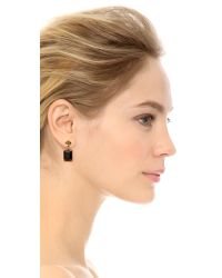 Tory Burch - Metallic Cecily Drop Earrings Midnight Blueantiqued Gold - Lyst