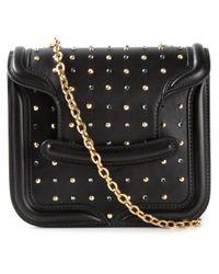 Alexander McQueen - Black Heroine Mini Calf-Leather Shoulder Bag - Lyst