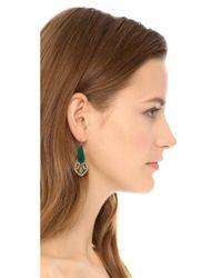 Adia Kibur | Crystal Embellished Earrings Green Multi | Lyst