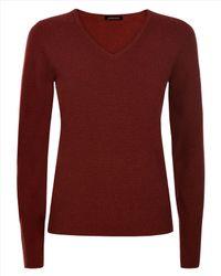 Jaeger - Purple Cashmere V-neck Sweater - Lyst