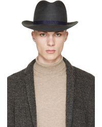 Robert Geller | Gray Grey Julius Fedora Hat for Men | Lyst