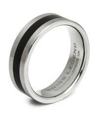 Swiss Legend - Gray Men'S Tungsten Carbide Ring for Men - Lyst