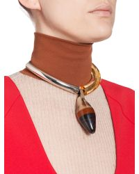 Marni | Brown Runway Necklace In Metal | Lyst