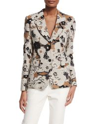 Creatures of the Wind - Natural Floral Brocade Fitted Jacket - Lyst