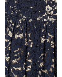 Erdem | Blue Margot Ruched Lace Dress | Lyst