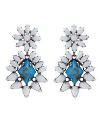 DANNIJO | Blue Turquoise Lizabeth Earrings | Lyst