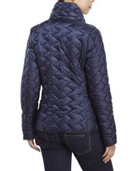 Betsey Johnson - Blue Stand Collar Puffer Jacket - Lyst