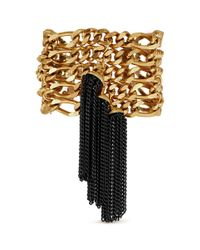 Ela Stone | Metallic 'amy' Metal Tassel Multi Chain Bracelet | Lyst