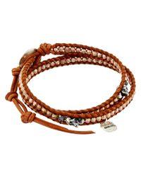 Chan Luu | Pink 12 1/2' Rose Gold Double Wrap Skull Charm Bracelet | Lyst