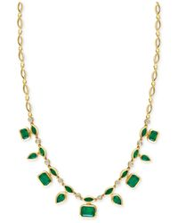 Effy Collection | Green Effy Emerald (7 Ct. T.w.) And Diamond (1/3 Ct. T.w.) Pendant Necklace In 14k Gold | Lyst