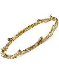 Tru. - Metallic Branch Bangle Bracelet - Lyst