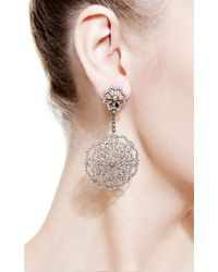 Bochic | Metallic Diamond Snowflake Earrings | Lyst