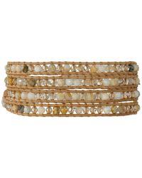 Chan Luu | Metallic 32' African Opal Crystal Wrap Bracelet | Lyst