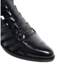 ASOS | Black Cashflow Leather Gladiator Boots | Lyst