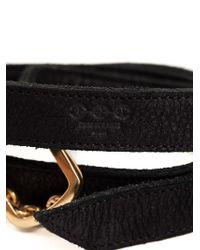 Hoorsenbuhs | Black Wrap Bracelet | Lyst