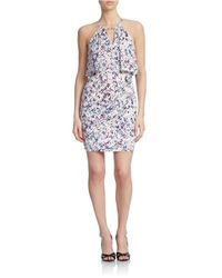 Guess - Multicolor Printed Keyhole Dress - Lyst