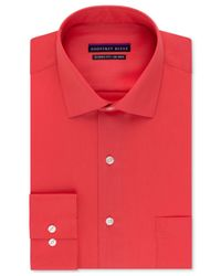 Geoffrey Beene | Red Big And Tall Non-iron Sateen Solid Dress Shirt for Men | Lyst