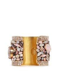 Erickson Beamon | Metallic 'marchesa' Iridescent Gemstone Cuff | Lyst