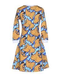 Calla - Yellow Short Dress - Lyst