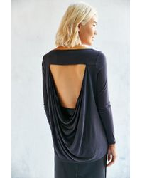Silence + Noise - Black Everly Cowl Back Tunic Top - Lyst