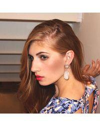 Adornia | White Rainbow Moonstone Mercy Earrings | Lyst