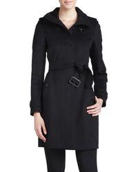 Burberry Brit | Black Gibbsmore Wool-blend Coat | Lyst