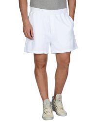 DSquared² - White Bermuda Shorts for Men - Lyst