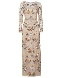 TOPSHOP - Natural Limited Edition Jewel Embellished Maxi Dress - Lyst