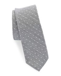 Original Penguin | Gray Silk And Cotton Tie for Men | Lyst
