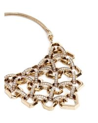 Lulu Frost - Metallic 'narcissus' Honeycomb Chain Link Plastron Necklace - Lyst