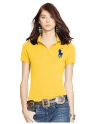 Polo Ralph Lauren | Yellow Sim-fit Big-pony Polo Shirt | Lyst