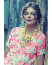 Anthropologie | Pink Boreal Bib Necklace | Lyst