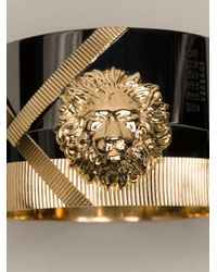 Versus - Metallic Engraved Lion Bracelet - Lyst