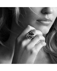 David Yurman | Metallic Cable Wrap Ring With Diamonds | Lyst