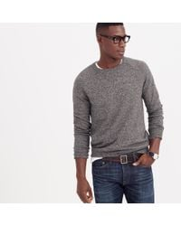 J.Crew | Gray Marled Cotton Sweater for Men | Lyst