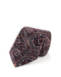 BOSS - Red 'tie 7.5 Cm'   Regular, Silk Paisley Tie for Men - Lyst