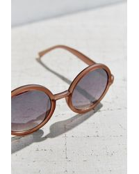 Urban Outfitters | Gray Liquid Matte Perfect Round Sunglasses | Lyst